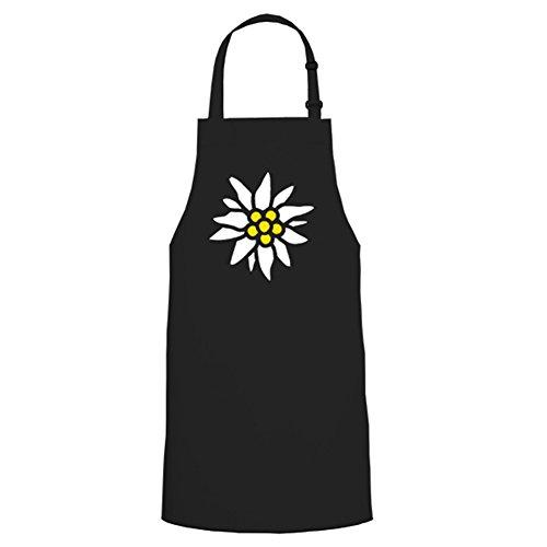 Edelweiss Chasseurs de Montagne Montagne Force insigne – Tablier/Tablier de barbecue # 5426 - Noir - Taille unique
