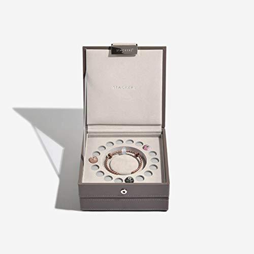 Stackers visone & grigio velluto fascino set di 2jewelry box
