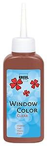 KREUL 40216-Window Color Cristal Transparente, 80ml, Color marrón Oscuro
