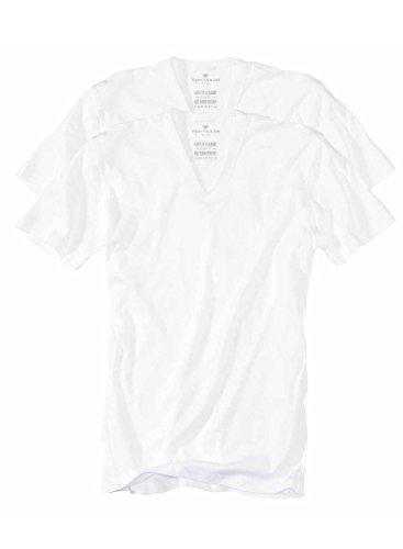 TOM TAILOR Herren T-Shirt, 2er Pack weiß