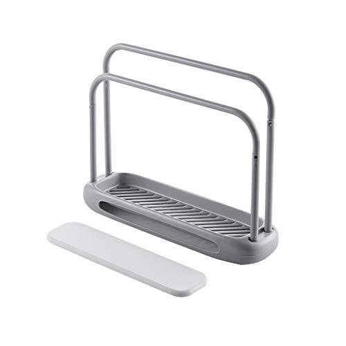 TianranRT❄ Ablageständer Für Spüle,Innovativer Kunststoff-Küchenschreibtisch,Spülmaschinentuch-Abtropfflächenhalter,Grau -
