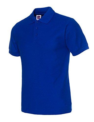 Bestgift Herren Poloshirt Kurzarm Stehkragen Polohemd Polo T-Shirt Kurzarm Basic Shirt Tops Royal Blau