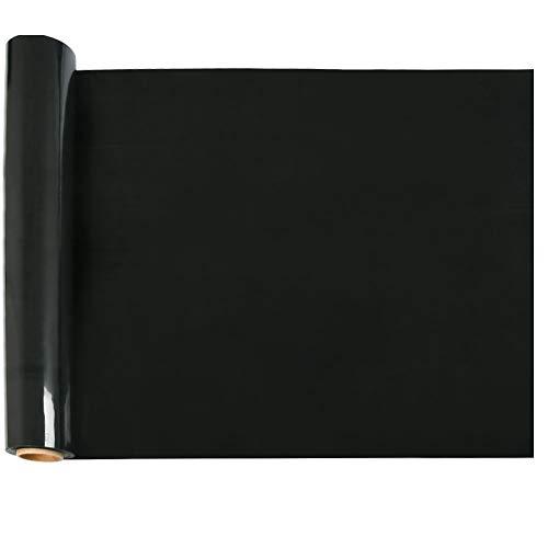 YANSHON 30x300cm PU Schwarz Heat Transfer, HTV Vinyl Rolls für T-Shirts (Entwerfen Sie Ihre Eigenen Kostüm)