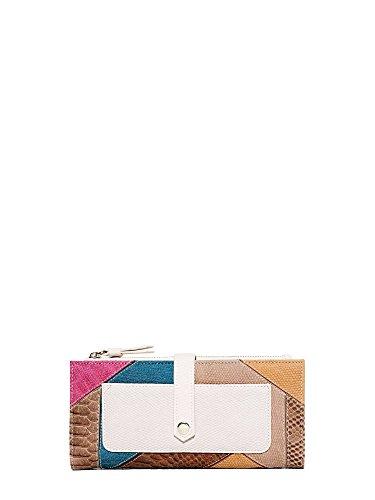 Desigual Talia Pia Long Wallet MarronDatos:o Material: cloruro de polivinilo 100%o Dimensiones: Anchura de 20 cm, altura 9 cm, profundidad de aproximadamente 2 cmo Color: Marron (Beige / Negro / rosa)o Fabricante: Desigual