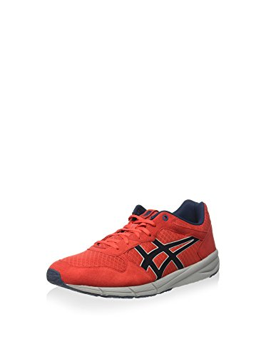 Asics Shaw Runner, Sneakers basses mixte adulte Fiery red
