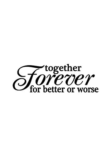 Together Forever para mejor o peor Novelty aluminio Metal Sign 7 X 10 pulgadas