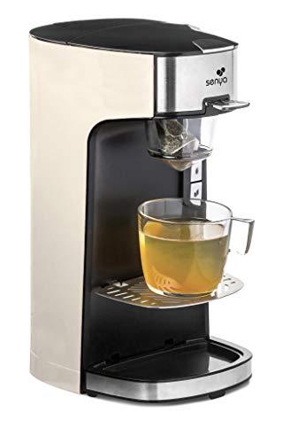 Senya SYBF-CM013-C Machine à Thé Tea Time crème Théière Électrique Compatible Thé en Vrac ou en Sachet avec infuseur Amovible 1415 W
