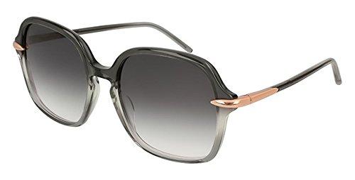 Pomellato pm0035s 001 occhiali da sole, grigio (001-grey/grey), 56 donna