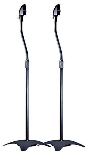 Monoprice Adjustable Height 5 lb. Capacity Speaker Stands (Pair), Black