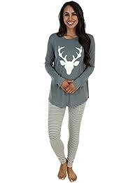 Sleepyheads Schlafanzug für Damen mit Langen Ärmeln und Leggings, Pyjama-Set