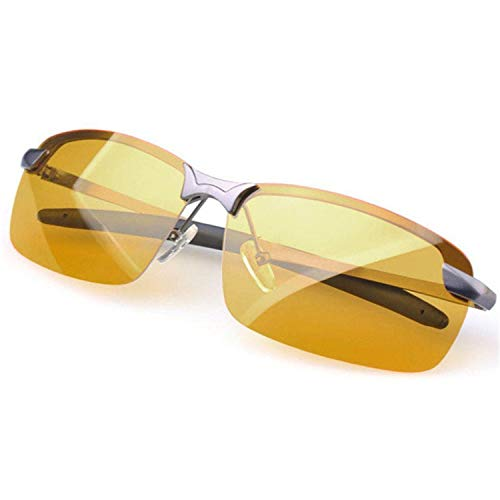 AOCCK Sonnenbrillen,Brillen, New Arrival Men's Glasses Car Drivers Night Vision Goggles Anti-Glare Polarizer Sun Glasses Polarized Driving Sunglasses YELLOW