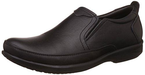 Egoss Men's Black Leather Loafers And Moccasins - 7 Uk/india (41 Eu)