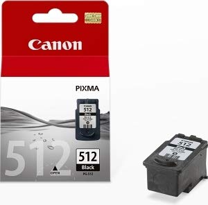 Canon PG-512 Original Schwarze Tintenpatrone für Inkjetdrucker Pixma MX320,330,340,350,360,410,420-MP230,240,250,252,260,270,272,280,282,480,490,492,495,499-IP2700,2702