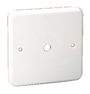 Monacor-Pannello frontale in plastica, colore: bianco