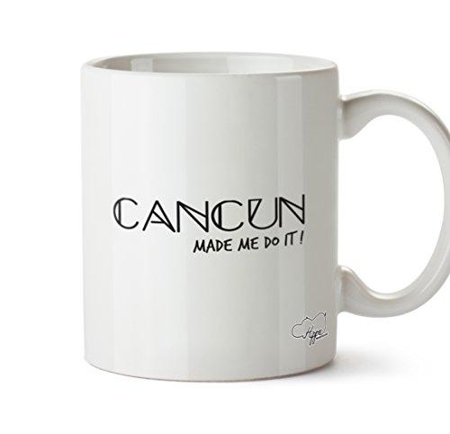 hippowarehouse Cancun Made Me Do It. 283,5Tasse, keramik, weiß, One Size (10oz) (Trunks Sun Swim)