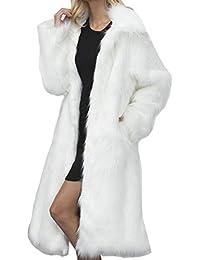 49754fa26770 Aceshin Damen Felljacke Schwarz Mantel Plüschjacke Winter Jacke Warm Faux  Pelzmantel Outwear lang Coat