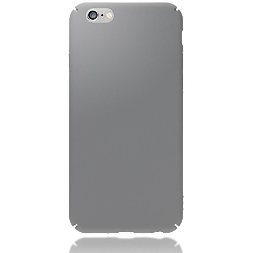 iPhone 6 6S Hülle Handyhülle von NICA, Dünnes Hard-Case Schutzhülle Matt, Ultra-Slim Cover Etui leichte Handy-Tasche, Ultra-Slim Phone Backcover Skin Bumper für Apple iPhone-6S 6, Farbe:Grün Grau
