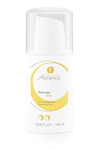 AESTHETICO foot care - 100 ml - Erfrischende Pflegecreme für Füße und Nägel, wirkt reizlindernd, hautberuhigend und leicht desinfizierend
