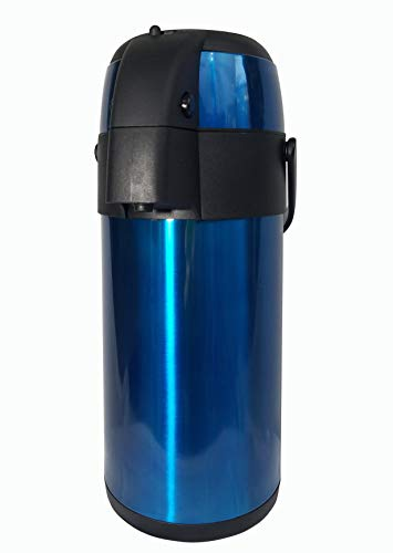 Thermite Airpot Kaffee- / Getränkespender mit Pumpe [Mitternachtsblau], 3 Liter (102 oz), isolierte doppelwandige Edelstahl-Thermokaraffe, um Getränke warm oder kalt zu halten. -
