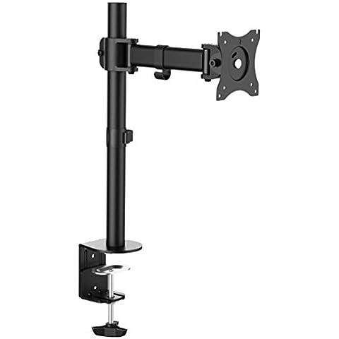 Duronic DM251X2 – Soporte de escritorio con un brazo de movimiento completo para 1 pantalla plana de 33cm – 68cm + 10 Años de