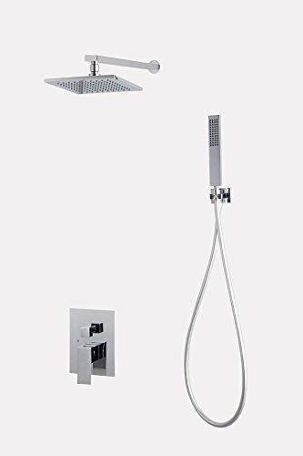 Luxurious shower Grifo de bañera de latón empotrables en la pared Mezclador...