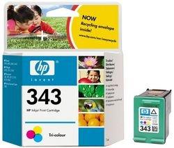 Original Tinte passend für HP PhotoSmart 375 HP 343 , 343C , 343COLOR , NO343 , NO343C , NO343COLOR , Nr 343 C8766EE , C8766EEABB , C8766EEABD - Premium Drucker-Patrone - Cyan, Magenta, Gelb - 260 Seiten - 7 ml (Hp Photosmart 2610 Drucker)