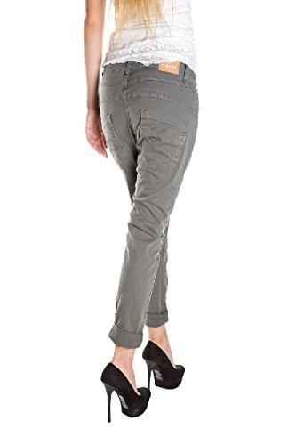 PLEASE - P78 jeans pantaloni da donna baggy Grigio scuro