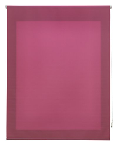 Uniestor Estor Enrollable Liso Traslúcido Tela Lila 120x175 cm