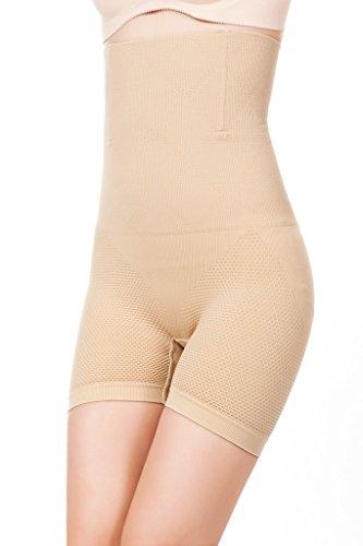 DODOING Damen Miederhose Bauch Weg Miederslip Hi Waist Thigh Slimmer Tummy Firm Control Shapewear Panties (Urlaub Kostüme Firma)