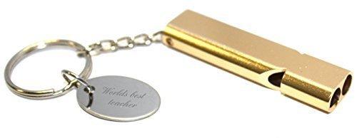 Worlds Best Lehrer Survival Whistle Schlüsselanhänger im Geschenk Beutel - aa96