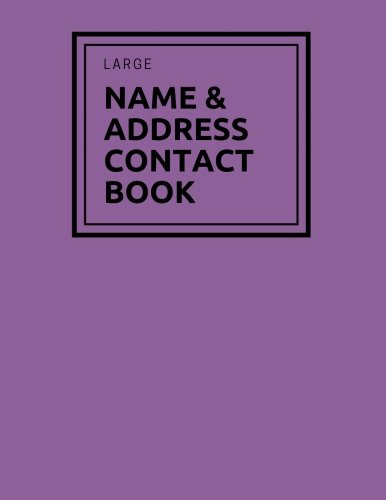 """Large Name & Address Contact Book: Purple Birthdays & Address Book for Contacts, Telephone, Addresses, Phone Numbers and Email   Alphabetical ...   8.5"""" x 11"""" A4: Volume 2 (Reference)"""