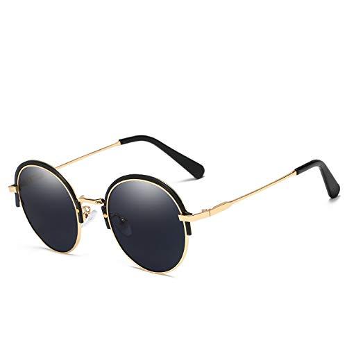 YIWU Brillen & Zubehör 2019 Die Neuen Europäischen Und Amerikanischen Trends Sonnenbrillen HD Round Frame UV-Unisex (Color : 3)
