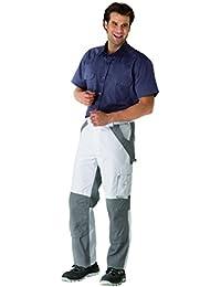 Berufsbekleidung Bundhose Plaline, weiß-zink, Gr. 24-29, 42-64, 90-110 Version: 48 - Größe 48