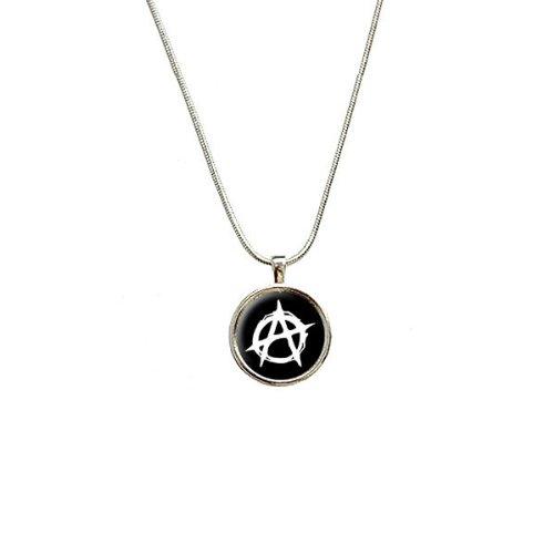 Preisvergleich Produktbild Anarchy Anarchie-Symbol Anhänger mit Kette, Sterling Silber vergoldet