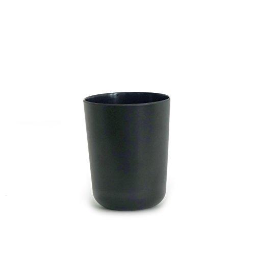 EKOBO Bano Black Zahnputzbecher, Bambus, 8x8x10 cm
