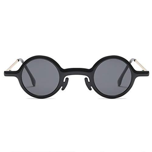 WYJW Sonnenbrille Classic Round für Damen UV400 Protection, Vintage Circle Frame Spring Hinge
