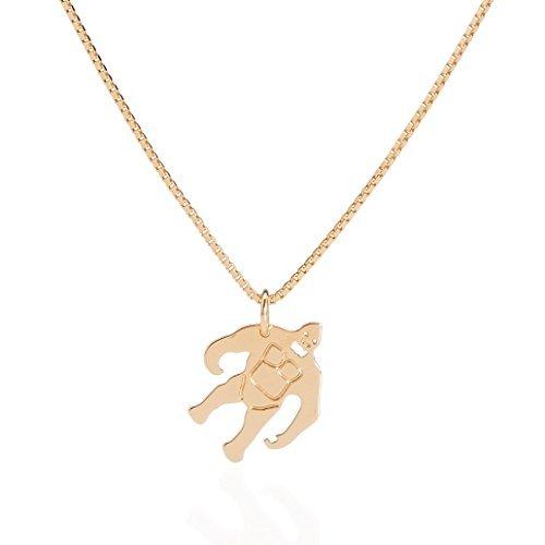 Malaika Raiss Damen Halskette King-Kong Anhänger Silber 24 Karat vergoldet - 3118