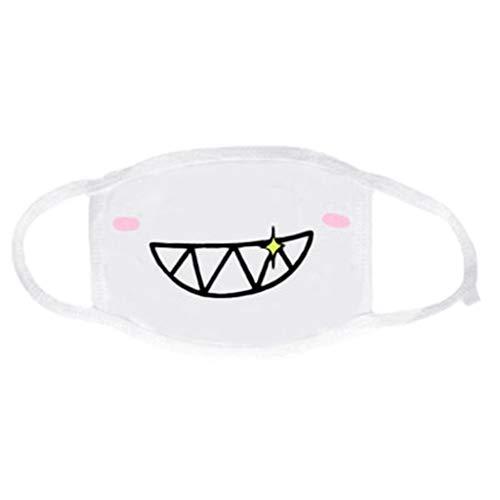 Zchenchen Mundmaske Cartoon Kawaii Emoji Druck Druck Fahrrad Gesichtsmaske Schutzhülle Ohrschlaufe elastisch Mundmuschel 1 Stück