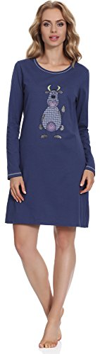 Italian Fashion IF Camicie da Notte per Donna Malina New 0115 Navy