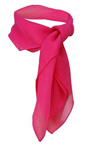 TigerTie Damen Chiffon Nickituch pink Gr. 50 cm x 50 cm - Tuch Halstuch Schal