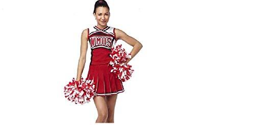 Für Cheerleader Erwachsene Kostüm Glee - Damen Glee Cheerleader Schulmädchen -Abendkleid -Uniform-Partei-Kostüm-Ausstattung (Small )