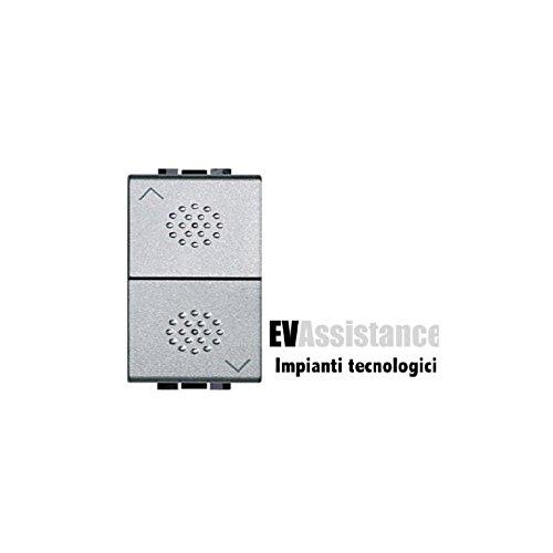 Bticino - nt4037 pulsador doble 1p 10a bloqueo mec. light tech Ref....