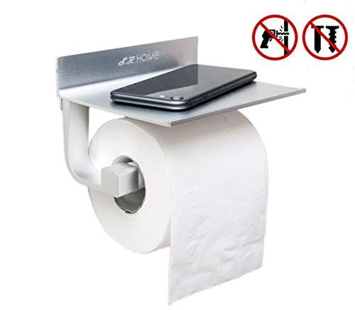 S.R HOME Porte-Papier Toilette Mural Auto-AdhÉSif Sans Perçage, Avec le Support, Espace Aluminium, Superglue Pour la Cuisine et Les Salles de Bains Etc.