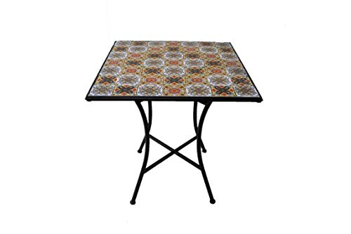 Galileo Casa 2421802 Ravello Table carré, mosaïque, Multicolor