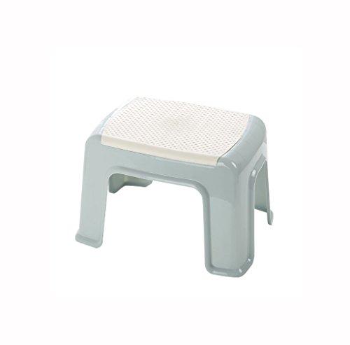 KTYXDE Kinder Kunststoff kleine Bank kleine quadratische Hocker Badezimmer Dusche Hocker Kindergarten Sitzbank kleine Stuhl Fußhocker Badezimmerstühle (Wc-bank)