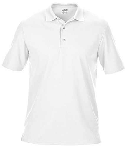 Gildan Performance Double Pique Polyester Sport Polo Short Sleeve Top Gr. S, Weiß - Weiß - Performance-polyester Pique Polo
