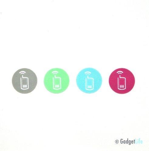 GadgetSecureTags CMYK-4-Kit ultrakompakte NFC-Sticker für Samsung Galaxy, Google Nexus, Sony Xperia, HTC etc. (Cloning-kit)