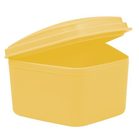 wellsamed Zahnspangendose Spangendose Prothesendose maxi gelb Dose (auch für Aufbissschiene, Knirscherschiene) 1 Stück