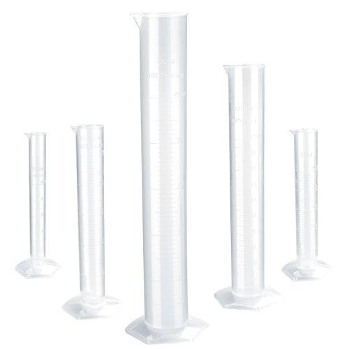 BESTOMZ Kunststoff Messzylinder Abgestufte Zylinder 10ml 25ml 50ml 100ml 250ml