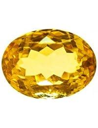 ARIHANT HANDICRAFTS Citrine/Natural Yellow Topaz Stone (5.00 CARATE) 5.50 RATTI